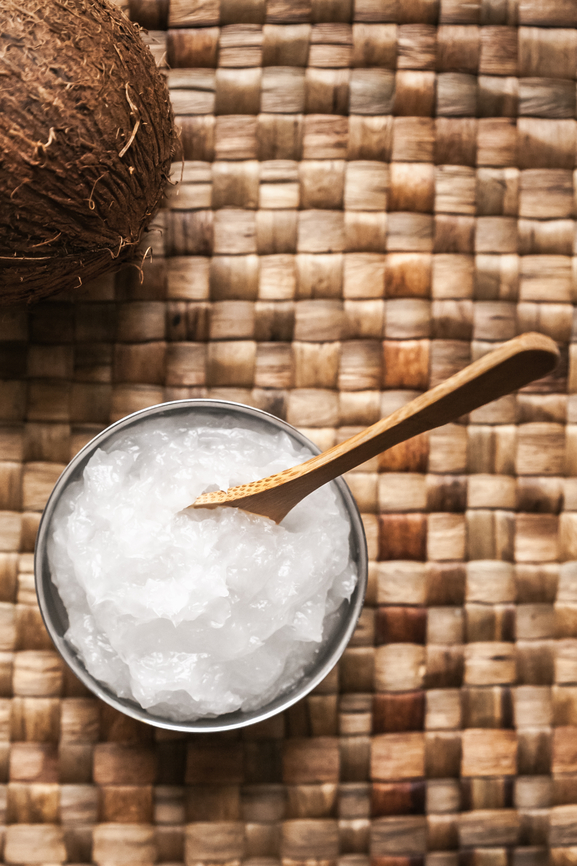Image of coconut oil in a bowl