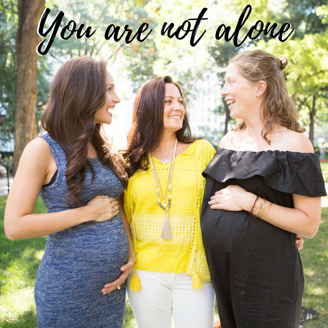 You are not alone - group of pregnant women