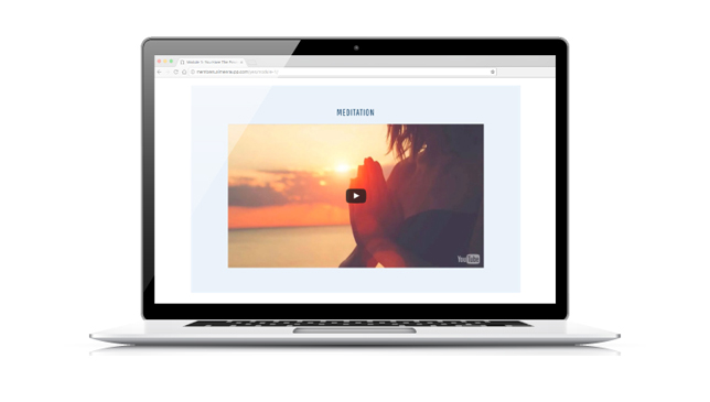 Laptop with image of Meditation video