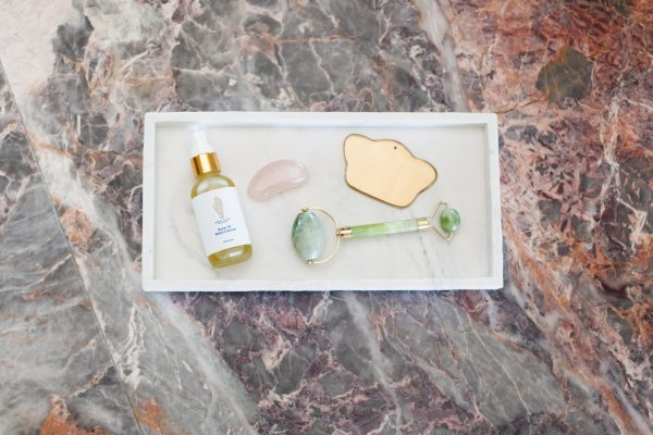 Image of a Jade Roller and Facial Cleanser