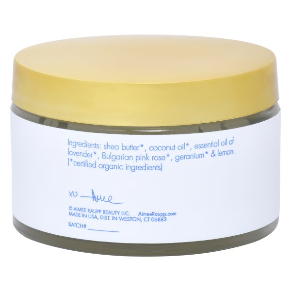 Image of Back of Organic Body Butter