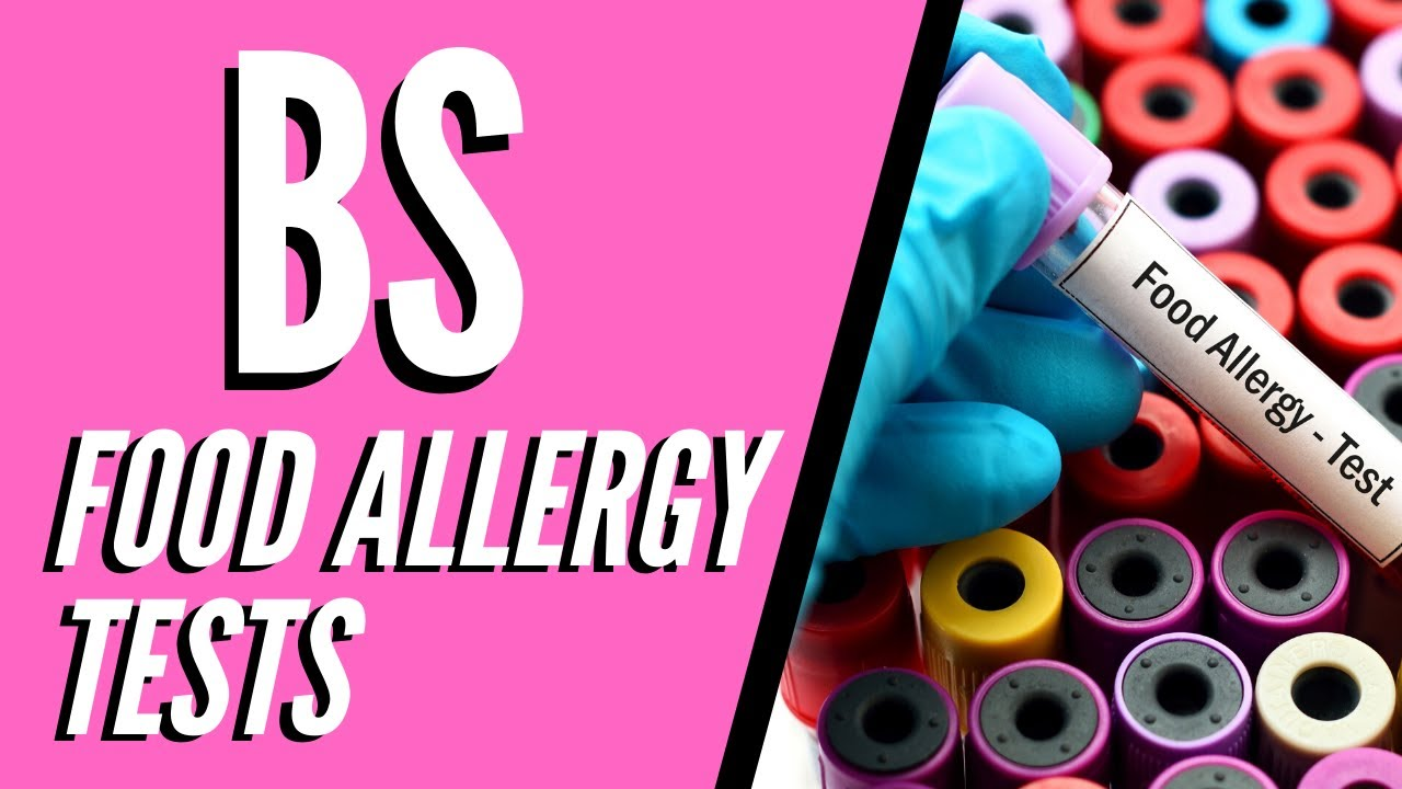 Vials with one labeled food allergy test