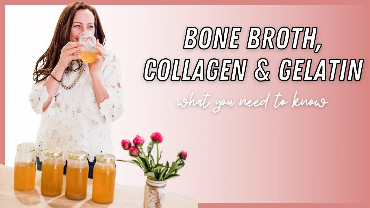 Image of Aimee Raupp Drinking Bone Broth and Jarring Bone Broth